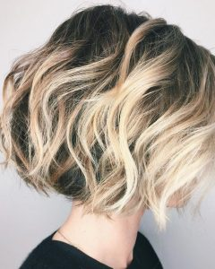 High Contrast Blonde Balayage Bob Hairstyles