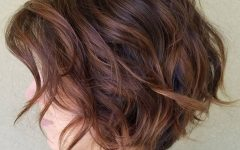Short Chocolate Bob Hairstyles with Feathered Layers