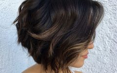 Short Shaggy Brunette Bob Hairstyles