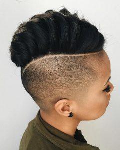 Mini-Braided Babe Mohawk Hairstyles