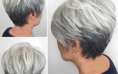 Reverse Gray Ombre for Short Hair