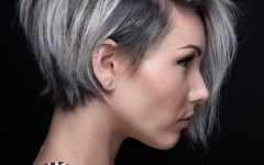 Stacked Pixie-bob Hairstyles with Long Bangs