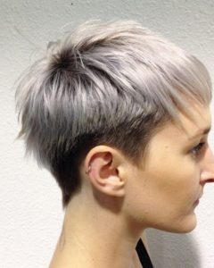 Two-Tone Feathered Pixie Haircuts