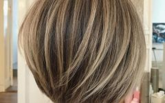 Short Stacked Bob Hairstyles with Subtle Balayage