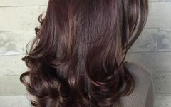 Long Layered Brunette Hairstyles with Curled Ends