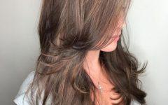 Long Layered Light Chocolate Brown Haircuts