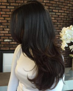 Black And Brown Layered Haircuts For Long Hair