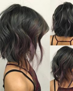 Black Curly Inverted Bob Hairstyles For Thick Hair