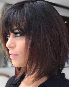 Medium Layered Black Hairstyles