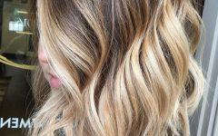Blonde Balayage on Long Voluminous Hairstyles