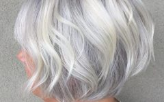 Gray Bob Hairstyles With Delicate Layers