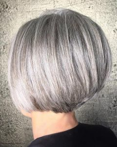 Rounded Bob Hairstyles with Stacked Nape
