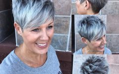 Gray Pixie Hairstyles For Over 50