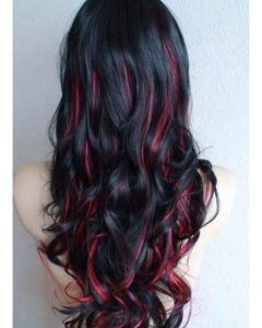 Red Highlights for Type 3c Hairstyles