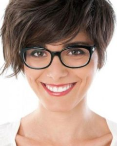 Short Haircuts For People With Glasses