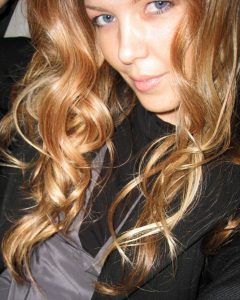 Long Dark Brown Curls Hairstyles with Strawberry Blonde Accents