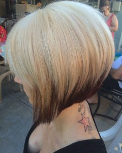 Straight Cut Two-tone Bob Hairstyles