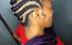 Purple Passion Chunky Braided Hairstyles