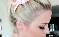 Loosely Tied Braided Hairstyles with a Ribbon