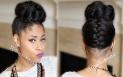 Braided Bun Updo African American Hairstyles
