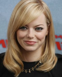 Medium Hairstyles with Side Bangs for Round Faces