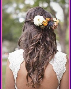 Long Wedding Hairstyles With Flowers In Hair