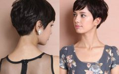 Layered Pixie Hairstyles with Textured Bangs