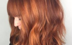 Medium-length Red Hairstyles with Fringes