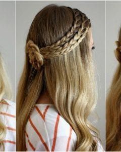 Cornrows Enclosed By Headband Braid Hairstyles