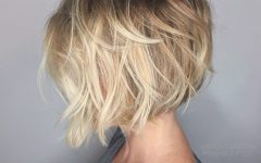 Nape-length Blonde Curly Bob Hairstyles