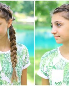 Pony And Dutch Braid Combo Hairstyles