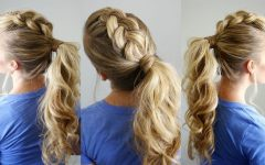 Mohawk French Braid Ponytail Hairstyles