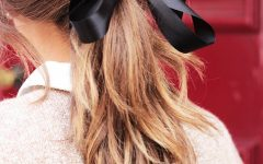 Black Bow Ponytail Hairstyles