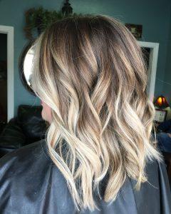 Brown Blonde Balayage Lob Hairstyles