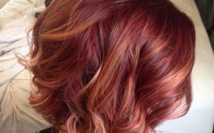 Pixie Hairstyles with Red and Blonde Balayage