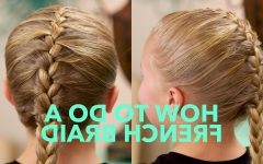 Simple French Braids for Long Hair
