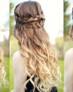 Half-Up And Braided Hairstyles