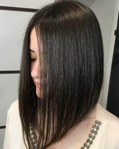 Dramatic Medium Hairstyles