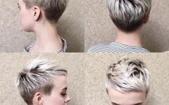 Blonde Pixie Hairstyles with Short Angled Layers