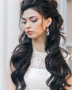 Long Hairstyles Down For Wedding