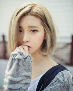 Blonde Asian Hairstyles