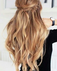 Long Hairstyles Half Up Half Down