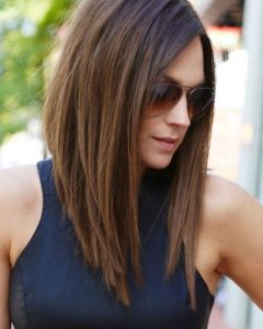Angled Long Hairstyles