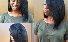 Long Bob Hairstyles with Bangs Weave