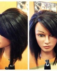 Long Inverted Bob Haircuts With Bangs
