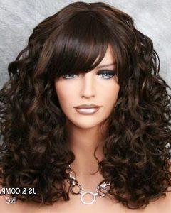 Long Permed Hair With Bangs
