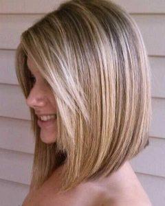 Medium Angled Bob Hairstyles