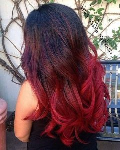 Long Hairstyles Red Ombre
