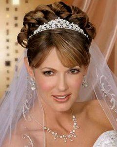 Updos Wedding Hairstyles with Tiara