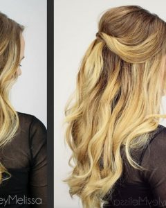 Beachy Half Ponytail Hairstyles